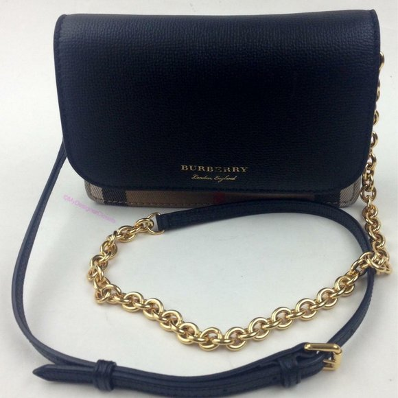 BURBERRY Hampshire House Check & Leather WOC